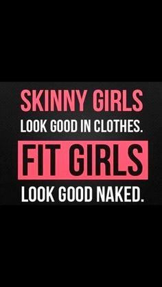 Fitness motivation - this is kind of how I feel. Ive always liked the way I looked better when I was clothed then when I was not. #FitnessMotivation