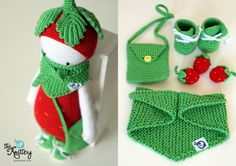 Crochet toy Toddler toy Child toy Lalylala Strawberry Erna Crochet doll Birthday Christmas present Get acquainted – Miss Strawberry Augustina! A