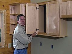 HOW TO REPLACE KITCHEN CABINETS Replacing old cabinets is an expensive undertaking but is much more affordable if you do the installation yourself. Learn how to replace old kitchen cabinets with these easy step-by-step directions.