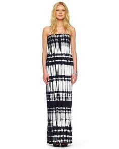 MICHAEL Michael Kors  Smocked Tie-Dye Maxi Dress.