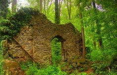 Ruins in Patapsco State Park, Maryland.