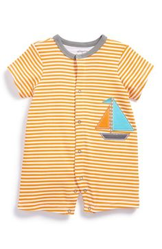 Offspring Sailboat Cotton Romper (Baby Boys) available at #Nordstrom