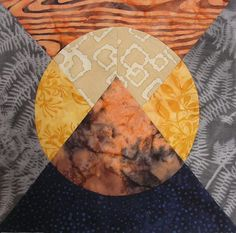 This is the best Moon Over the Mountain quilt block that I've seen. Multiple blocks together create a stunning mountain range effect.