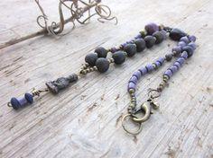 Collar Meditación Púrpura, Colgante Meditacuión, Collar Violeta, Yoga, Oración, Amatistas