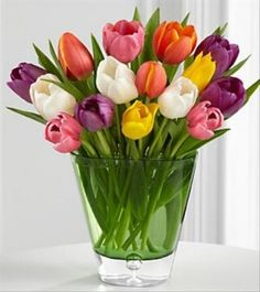 Spring Tulip Bouquet. One of my favorite flowers...especially in purple!