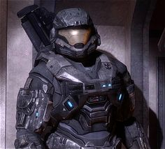 (Halo: Reach) [Mark V.[B] helmet and (full) neck guard design idea]