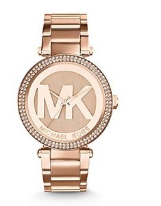 Rose gold-tone stainless steel bracelet watch with pave dial featuring bold logo 45 mm stainless steel case with mineral dial window Quartz movement with an Skagen, Michael Kors Rose Gold, Michael Kors Watch, Rose Gold Watches, Handbags Michael Kors, Stainless Steel Bracelet, Cool Watches, Women's Watches, Quartz Watch