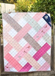 """This listing is for The Betty Quilt Paper Pattern. It is my very first printed pattern and I am so excited to share with you. It is quick to put together and a fun way to show off your favorite fabrics. This pattern is beginner friendly, but also fun for more experienced quilters. It includes three sizes: Baby Quilt - 42"""" x 51"""" Lap Quilt - 60"""" x 68"""" Twin Quilt - 68"""" x 93"""" This pattern has been tested by multiple pattern testers. Please contact me if you have any issues or questions."""