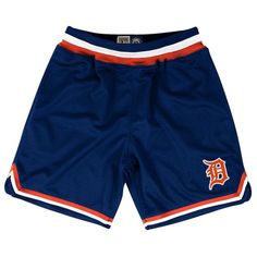 Detroit Tigers Mens NIKE Navy Blue Shorts M L XL XXL Baseball Basketball