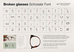 Dr. Anna Schossler: Broken Glasses Schossler Font