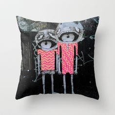 street art couple Throw Pillow by AmDuf - $20.00 | via Amelie Dufaut