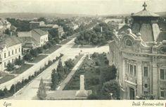 Eger, Deák Ferenc utca, országzászló 1936 (fotó egriszin.hu)