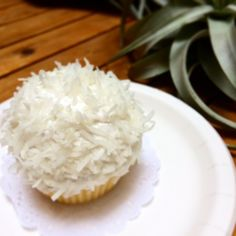Coconut cupcake at Magnolia Bakery in Tokyo. Read my review of the new cupcakery here.   #cupcakes #magnoliabakery #coconutcupcake #coconut