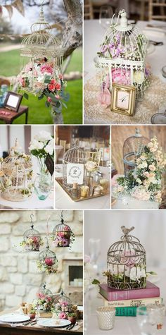 Diy vintage wedding centerpieces creative ideas to add vintage charm to your wedding decorations diy rustic Vintage Wedding Centerpieces, Vintage Wedding Theme, Diy Wedding Decorations, Rustic Wedding, Table Decorations, Wedding Ideas, Birdcage Centerpiece Wedding, Vintage Bridal, Brunch Wedding