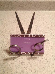 Custom Upcycled Scissor Business Card Holder