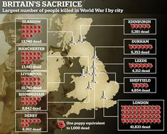 A map shows the ten places that saw the most men die in battle. While it was the big cities that lost the highest numbers of men, it was the smaller northern England and Scottish towns that saw entire generations completely wiped out Glasgow, Edinburgh, Tens Place, Circle Of Friends, Northern England, British Soldier, Wipe Out, World War I, Durham