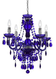 Elements Mini Chandelier, I love cobalt blue glass