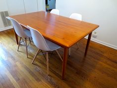 Dining Room Revamp: Part I | Mid-century modern dining room table and chairs | Urban Nesting #teak #eames