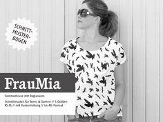 Oberteile & Jacken - FrauMIA lockere Raglanbluse, Schnittmuster - ein Designerstück von Brittschens bei DaWanda