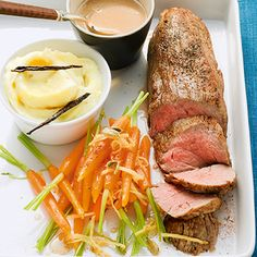 Kalbsfilet mit Cognacsauce und Kardamom-Möhren Rezept   Küchengötter