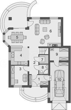 Projekt domu Swetoniusz 140,45 m2 - koszt budowy - EXTRADOM Autocad, Billionaire, Home And Living, House Plans, Sweet Home, Floor Plans, Dragon, House Design, How To Plan