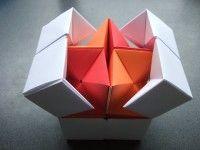 origami – action origami – double star flexicube (David Brill) – tutorial