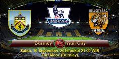 Indoprediksiskor.com pekan ini akan mengulas informasi seputar prediksi pertandingan pada ajang Liga Primer Inggris yang mempertemukan antara Burnley vs Hull City, Duel seru kali ini rencananya akan digelar di Turf Moor (Burnley) tepatnya pada hari Sabtu, 10 September 2016 pukul 21.00 WIB malam nanti.