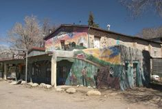Local Theater Building in Penasco.  Murals like this are common in NM