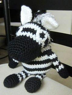 amigurumi zebra tejida a crochet