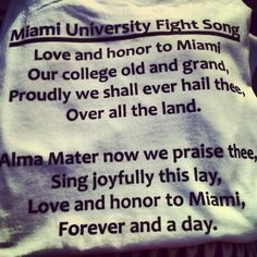 """@margaretellis12's photo: """"#loveandhonor"""" #MiamiOH"""