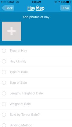 HayMap App Sell Form