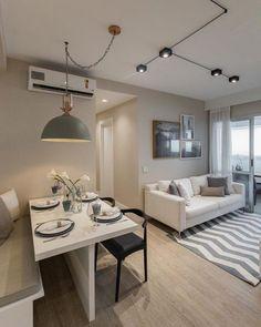 Condo Interior Design, Small Apartment Interior, Home Room Design, Living Room Designs, Small Apartment Design, Condo Design, Condo Living Room, Apartment Living, Home And Living