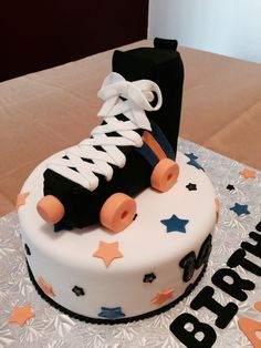 Roller Skate Cake #Marylinssweetcakes