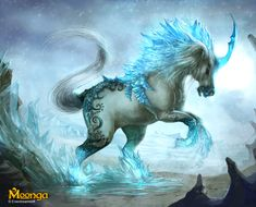 I took a personality test and this is the breed of unicorn I would be. An Ice unicorn. Mythical Creatures Art, Mythological Creatures, Magical Creatures, Unicorn And Fairies, Unicorn Art, Unicorn Fantasy, White Unicorn, Fantasy Kunst, Fantasy Art
