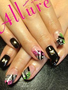 Pretty in punk...  -BNM2013  #nail #nails #nailsart
