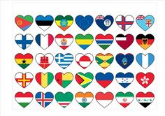 """Does Everyone Say """"I Love You?"""" - exploring symbols of love for an internationally-minded Valentine's Day My Father's World, Flags Of The World, Infant Activities, Fun Activities, Harmony Day Activities, Continents And Oceans, Paper Chains, Badge Design, Say I Love You"""