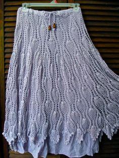 Destash Long  Lavender Crotchet Pixie Skirt by EireCrescent, $19.99