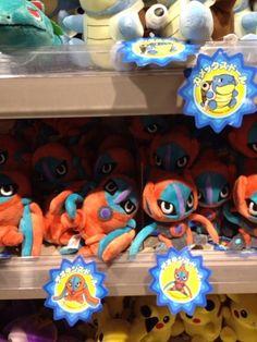 Pokemon Photos from Tokyo - Deoxys plush dolls at Pokemon Center Tokyo