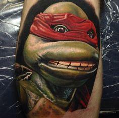 Raphael Teenage Mutant Ninja Turtles TMNT tattoo by Nikko Hurtado