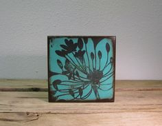 Floral Art Block Painting Wall Hanging  Agapanthus by MatchBlox, $29.00