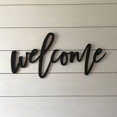 welcome sign, word cutout, wood words, wood letter Wooden Wall Art, Wood Art, Metal Welcome Sign, Sign Fonts, Funny Wood Signs, Scrapbook Quotes, Patio Wall, Cnc, Tree Wall Art