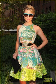 Dianna Agron at the Coach Summer Party!  Some one buy me that dress, and those shades, I adore them.