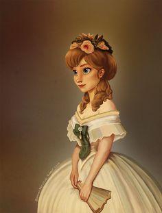 Pretty Queen Anna Disney Fan Art, Arte Disney, Disney Style, Disney Love, Disney Magic, Disney Frozen, Frozen Anime, Frozen Frozen, Disney Artwork