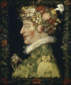 Giuseppe Arcimboldo - Spring, 1573 - Wiosna – Wikipedia, wolna encyklopedia