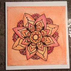 Hand painted mandala greeting card by PrimalPulseDesigns on Etsy Mandala, My Etsy Shop, Greeting Cards, Hand Painted, Flowers, Pictures, Painting, Photos, Florals