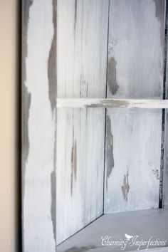 A great idea for distressed paint - vaseline