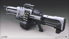 ArtStation - Destiny - House of Wolves - Machine Gun, Mark Van Haitsma