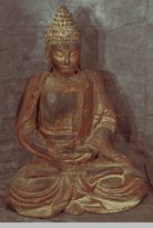 Large Carved Wooden Buddha Statue