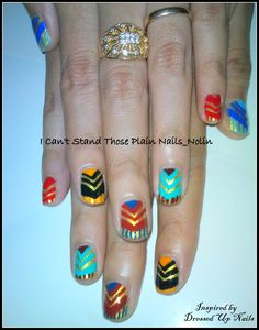 art deco nailart