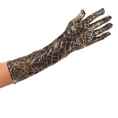 Gloves Spider Web Gold on Black Material Spiders, Hand Henna, Hand Tattoos, Gloves, Books, Gold, Black, Libros, Black People